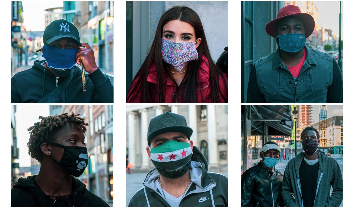 BXL in mondmaskers // BXL masqué